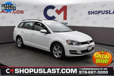 Certified Pre-Owned 2015 Volkswagen Golf SportWagen S